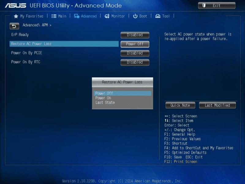 Как сделать чтобы компьютер автоматически включался при подаче питания